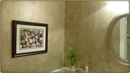 faux glaze in bathroom